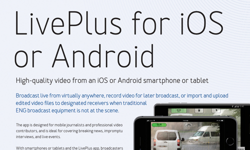 Dejero LivePlus for iOS or Android