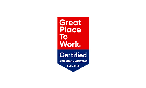 2020-2021  Great Place to Work Certified