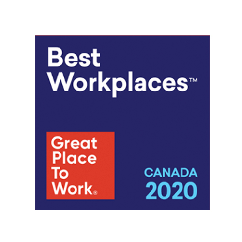 2020 Best Workplaces in Canada with 100 to 999 employees