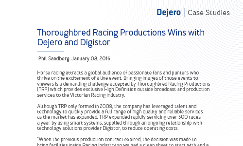 Thoroughbred Racing Productions Wins with Dejero and Digistor