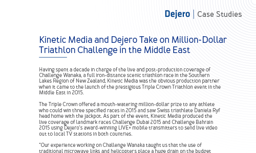 Kinetic Media and Dejero take on million-dollar triathlon challenge in the Middle East