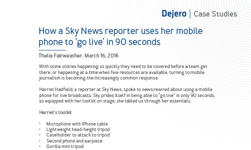 How a Sky News reporter uses her mobile phone to 'go live' in 90 seconds